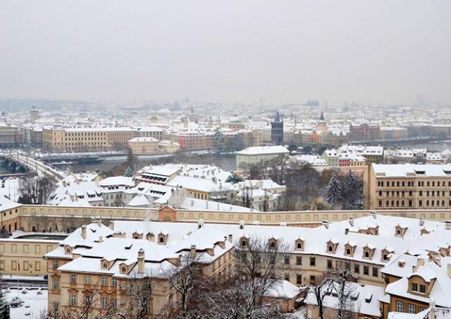 На Прагу надвигается сильный снегопад