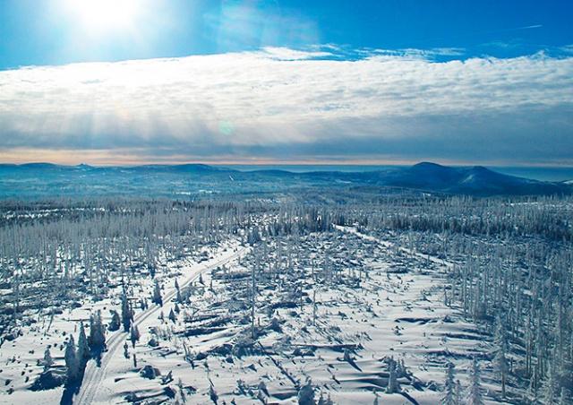 В Чехии зарегистрировали мороз в -25°C