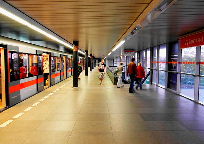 В Праге на три дня закроют участок «красной» ветки метро