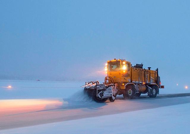 В Чехию идут первые сильные снегопады