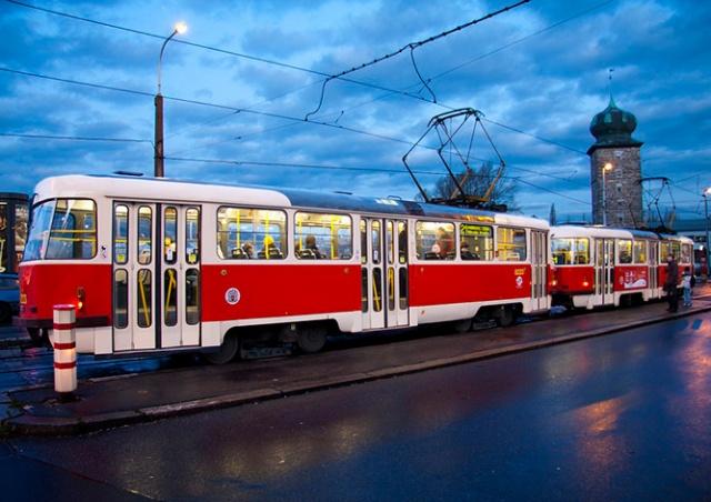 Движение трамваев в центре Праги ограничат из-за ремонта путей
