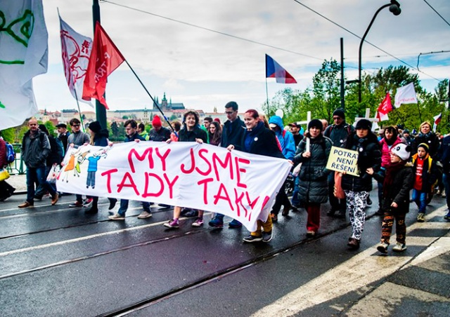 В Праге прошел марш против абортов
