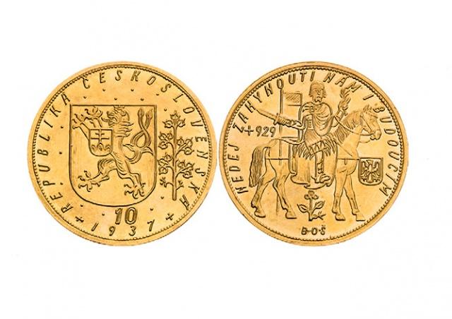 В Праге чехословацкую монету продали за 14,7 млн крон