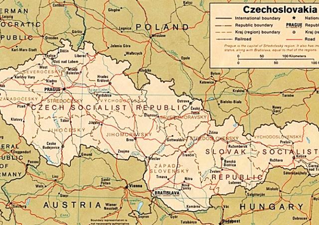 Пьяный иностранец пытался доехать до Праги по карте Чехословакии