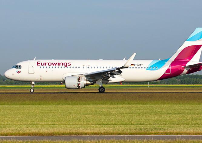 ВПраге экстренно сел самолет авиакомпании Eurowings