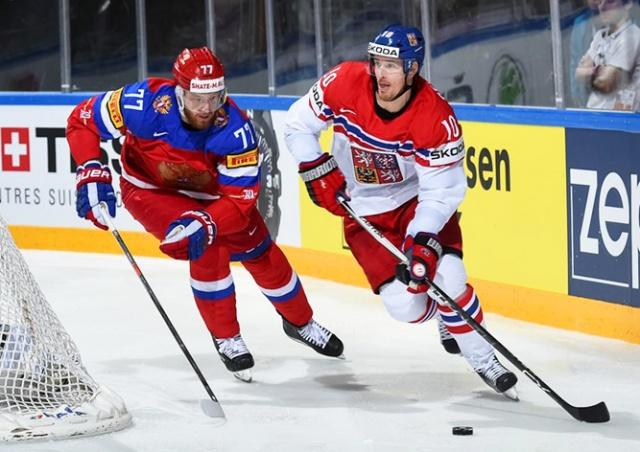 Сборная Чехии сыграет с Россией на чемпионате мира по хоккею