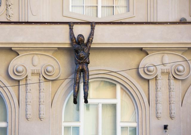 В Чехии открыли новую скульптуру Давида Черного: видео