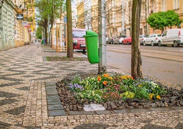 В Праге садоводы-энтузиасты украсили улицы цветами