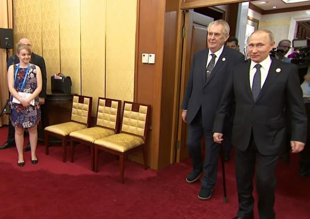 Земан на встрече с Путиным предложил ликвидировать журналистов: видео