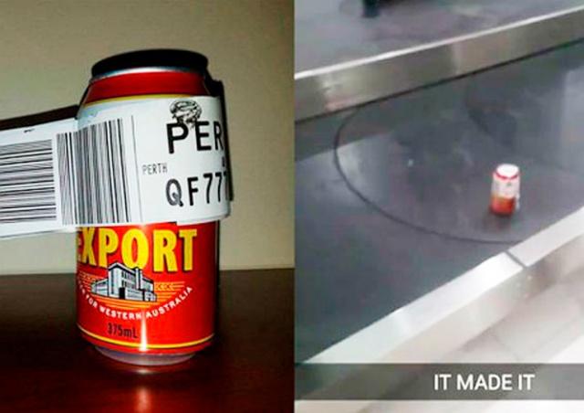 В Австралии авиапассажир сдал в багаж одну лишь банку пива