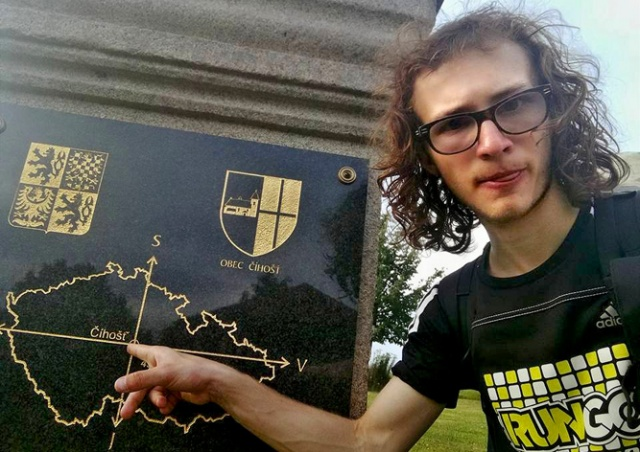 Студент пешком пересек Чехию за рекордное время