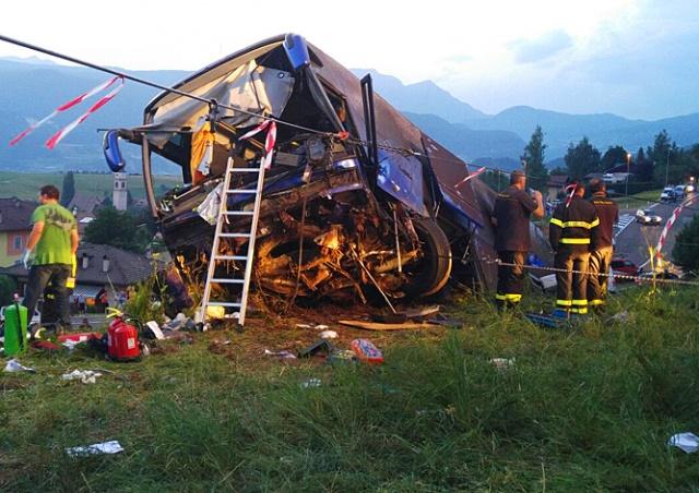 В Италии разбился автобус с чешскими туристами
