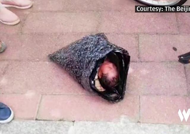 Китаянка отправила младенца в приют в пакете курьерской службой