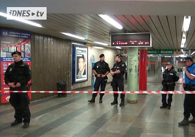 Из-за подозрительного предмета в Праге эвакуировали станцию метро