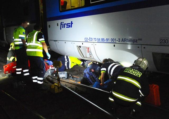 В Праге поезд сбил человека