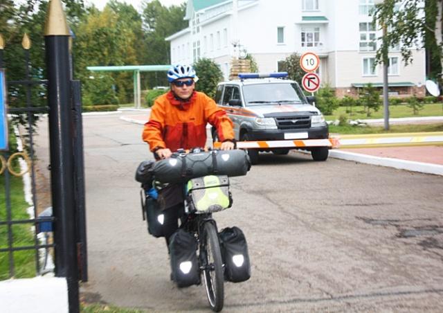 Чешский пожарный на велосипеде доехал до Иркутска