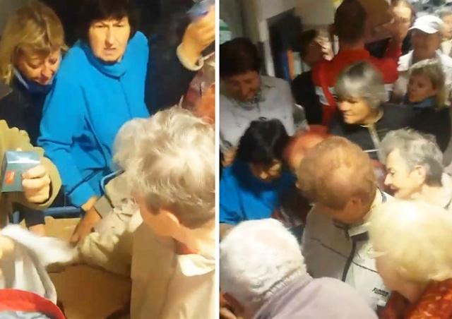 Толпа за 2 минуты расхватала масло в чешском магазине: видео