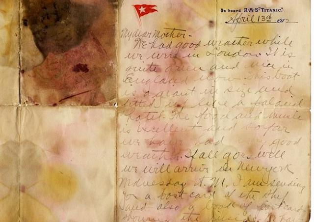 Письмо пассажира «Титаника» ушло с молотка за рекордную сумму