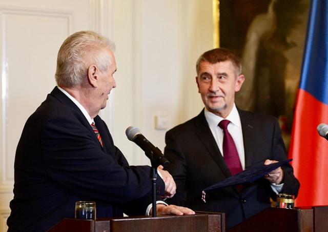 Президент Чехии поручил Бабишу сформировать правительство