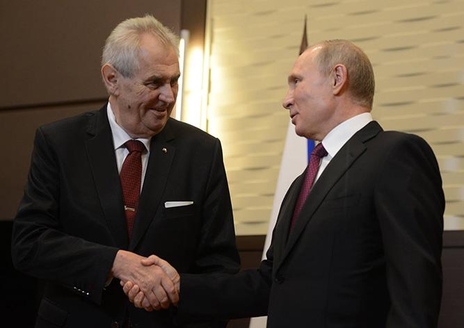 Земан поздравил Путина с победой в Сирии