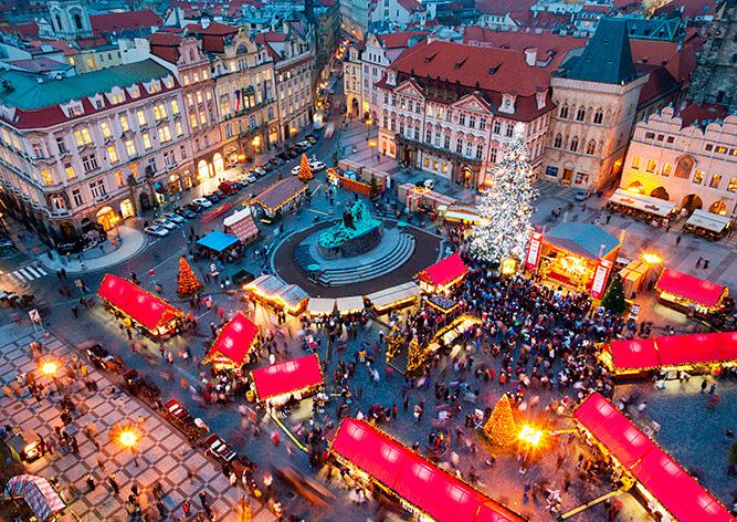 График работы рождественских ярмарок в Праге в 2017 году