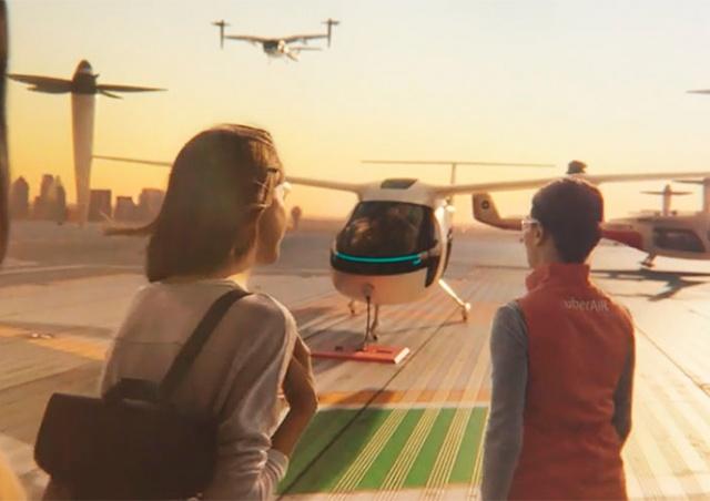 Uber и NASA создадут летающее такси: видео