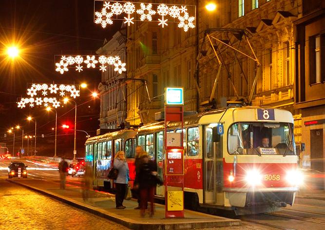 Как будет работать общественный транспорт Праги в зимние праздники