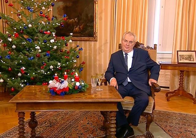 Видео: рождественское обращение президента Чехии
