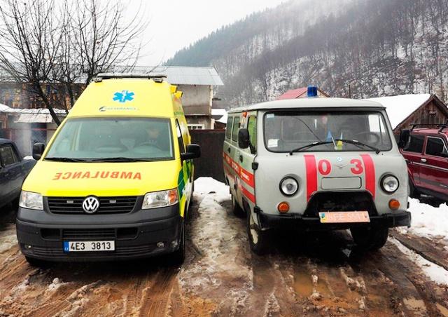 Пардубицкий край подарил закарпатскому селу машину скорой помощи
