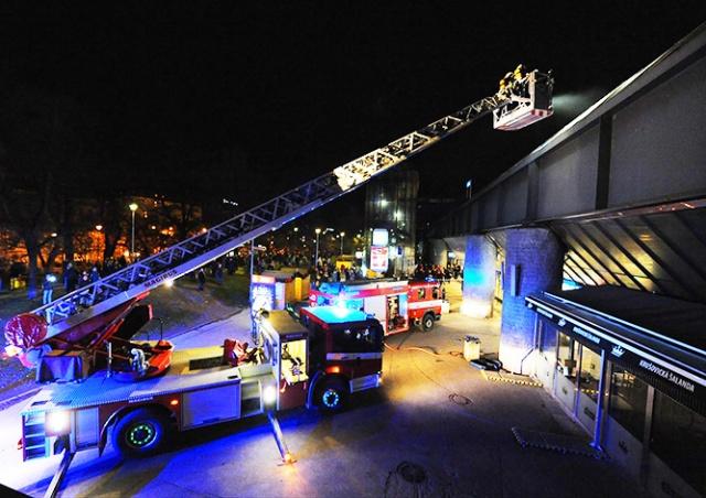 Из-за пожара в Праге эвакуировали Главный вокзал