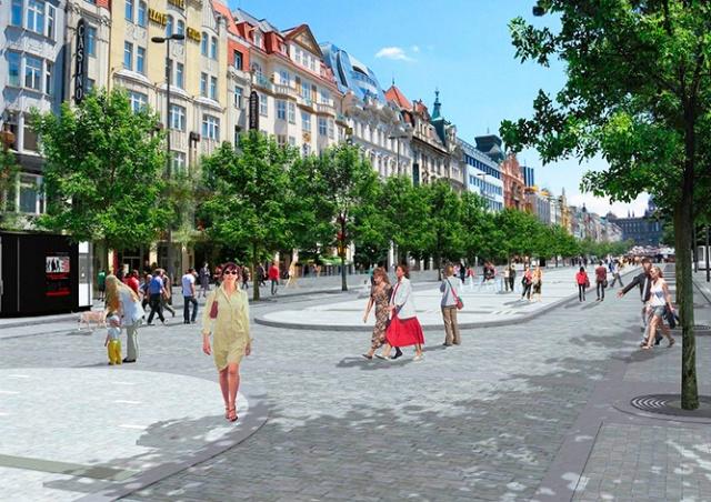 В Праге начинается реконструкция Вацлавской площади