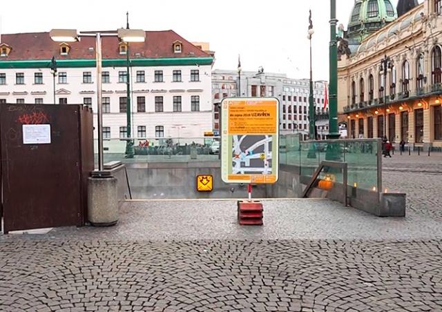 Вход на станцию метро Náměstí Republiky в Праге закрыли на 8 месяцев