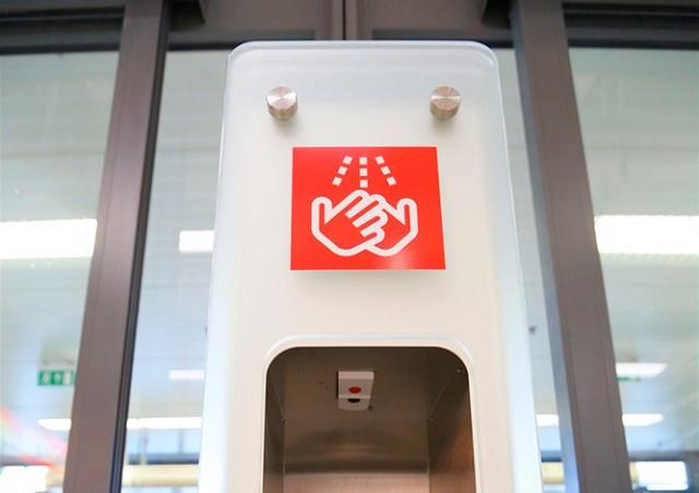В чешских магазинах Kaufland установили «терминалы гигиены»