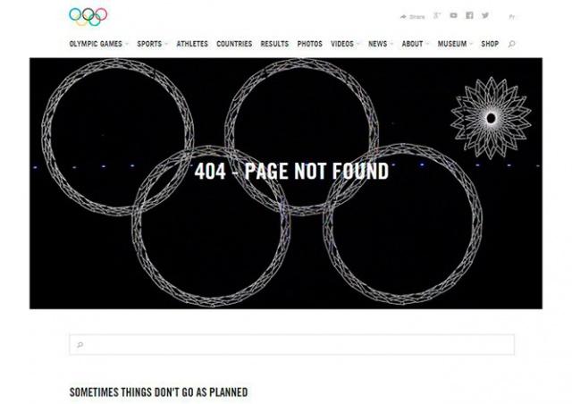 МОК проиллюстрировал ошибку 404 нераскрывшимся кольцом сочинской Олимпиады