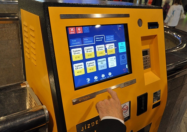 В Праге заменят все старые билетные автоматы