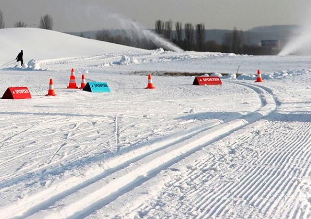 В Праге открылся парк для лыжников