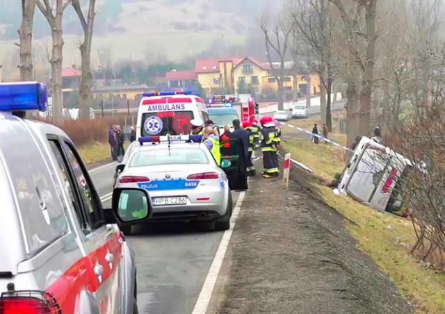 Автобус из Праги с российскими туристами «на борту» перевернулся в Польше