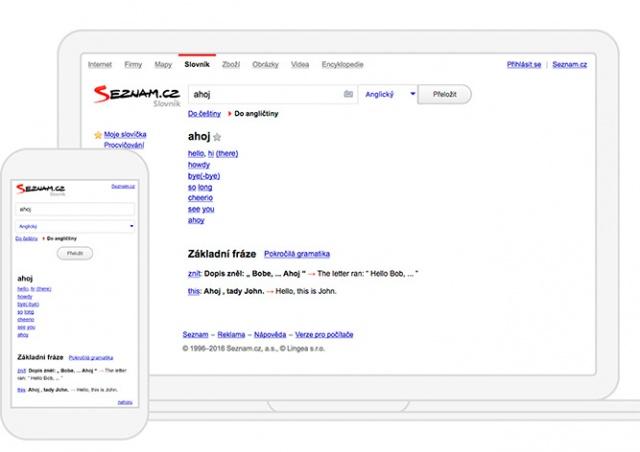 Вышло мобильное приложение для словаря Seznam slovník