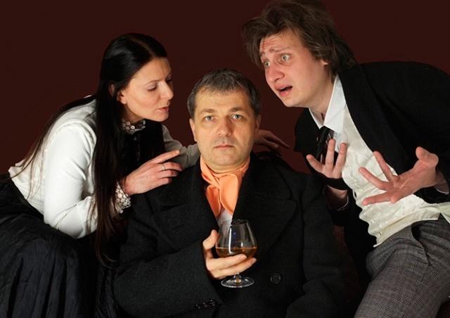В Праге покажут спектакль  «Предложение» - «Медведь» по пьесам Чехова