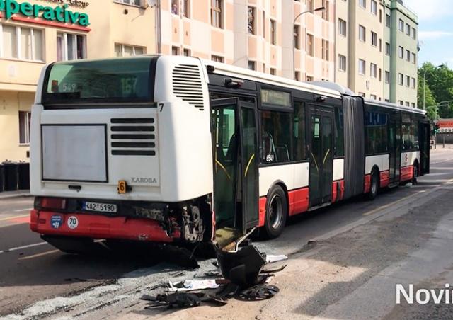 Два человека пострадали в ДТП с автобусом в Праге