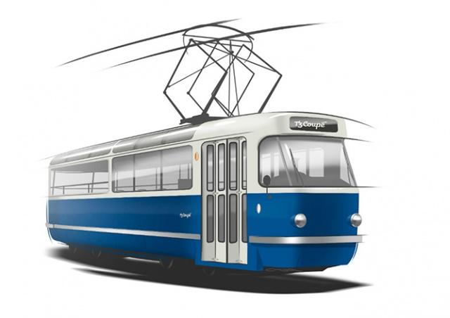 На улицы Праги выйдет туристический трамвай с прозрачной крышей