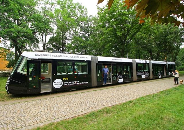 Пражские трамваи расписали «отмазками» безбилетников