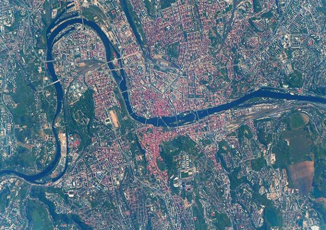 Астронавт сфотографировал Прагу из космоса