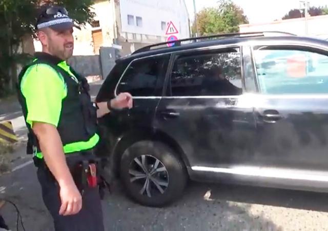 В Праге полицейские спасли кошку из раскаленного на солнце авто: видео