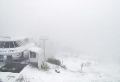 В Чехии выпал первый снег: видео