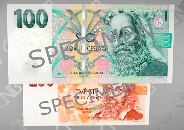 В Чехии ввели в оборот новые банкноты 100 и 200 крон