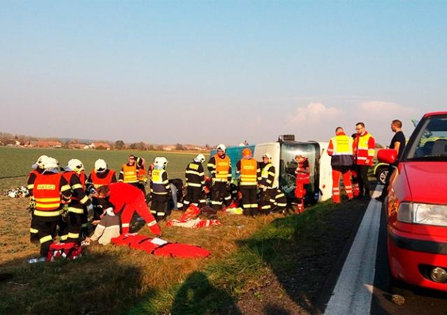 В Чехии перевернулся автобус с детьми: есть пострадавшие