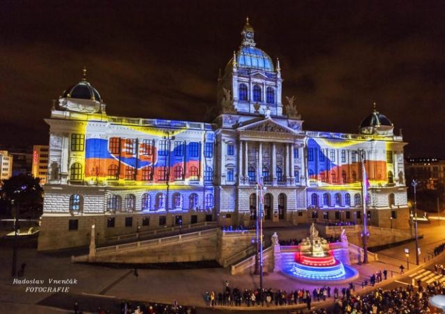 Видеомэппинг на Национальном музее Праги: как это было