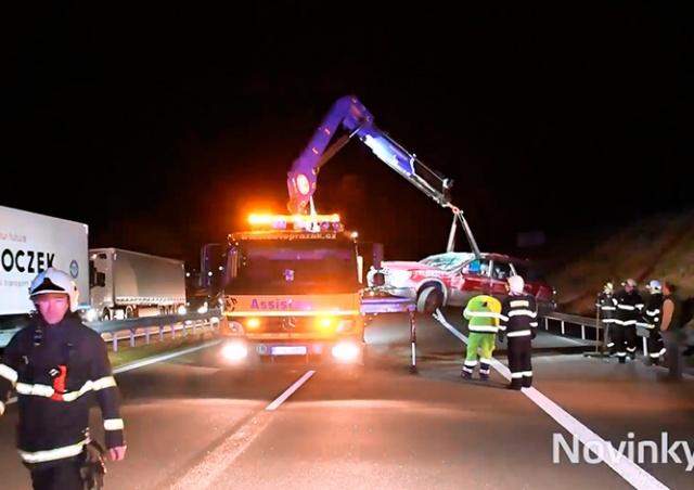 Коровы спровоцировали массовое ДТП на чешской автомагистрали D1