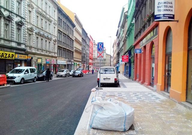 Движение по улице Husitská в Праге полностью восстановят 25 ноября
